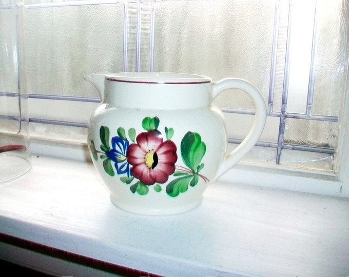 Vintage Country Pitcher Hand Painted Schwandorf Germany