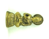 Tiny vintage brass amulet from Thailand now 20% off