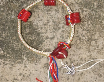 Nicole Wong knotted bracelet horn & beeswax