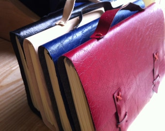 A4 Leather Satchel Journal - Plain or Personalised