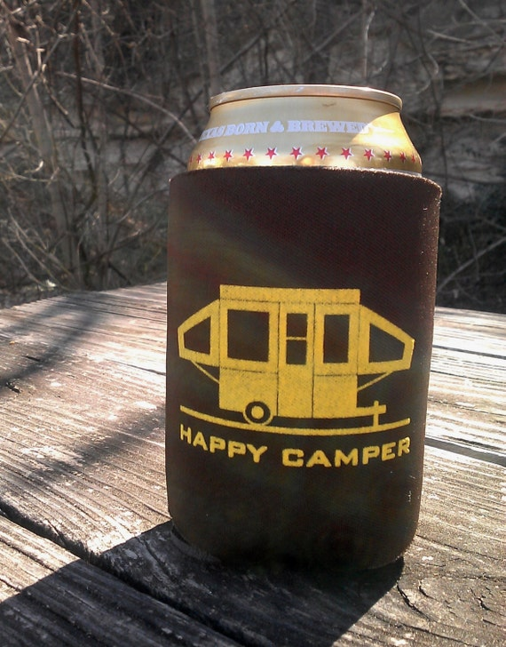 Happy Pop Up Camper Can Coolers - Set of 6