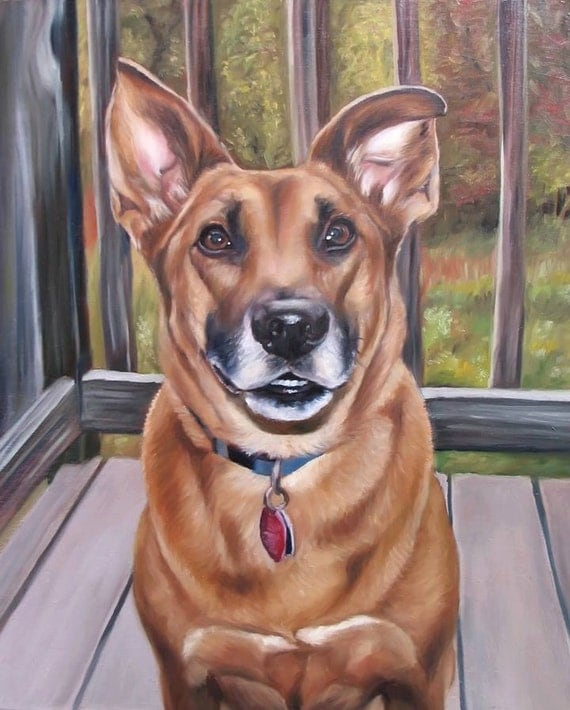 Custom Pet Portrait - Oil Painting - Dog Painting - Perfect Gift
