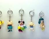90s Cartoon Character Keychains