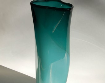 Dark Teal Two Tone Triangular Vase Jug Vessel
