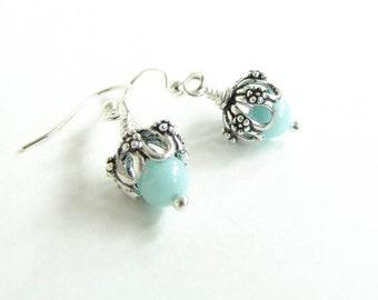 Amazonite Earrings Baby Blue