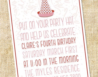 Party Hat Invitation