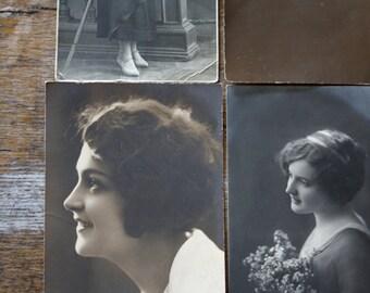 4 FORGOTTEN POSTCARDS...// Vintage portrait // Vintage photo //