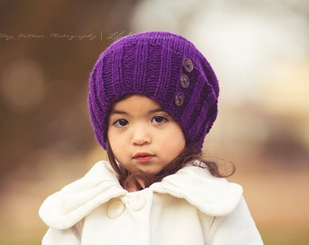 Little Hipster Brynlee Beanie knit with buttons Toddler Child Adult sizes choose color