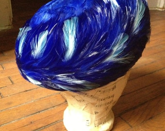 Blue Feather Hat