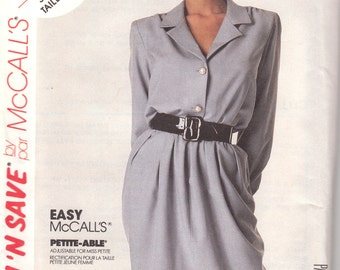 Easy Button Front Dress Pattern McCalls 5574 Sizes 16, 18 & 20 Uncut