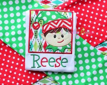 Boys Christmas Embroidered Shirt - Christmas Shirt - Boys Christmas Shirt - Holiday Shirt - Reindeer - Santa - Christmas