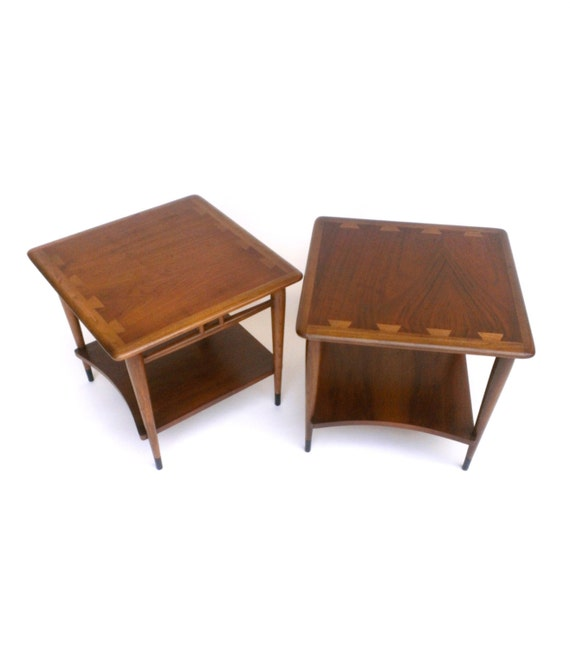 Modern Pair Of Lamp Table Bedside End Side Tables Solid: Mid Century Lane Acclaim Lamp Table Danish Modern Two Tier