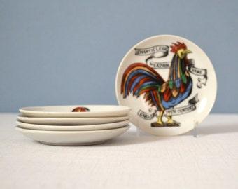 Set of 5 Piero Fornasetti Style American Antiques Americana Coasters