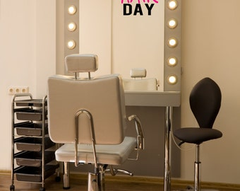 Mirror decal etsy for Salon quotes of the day
