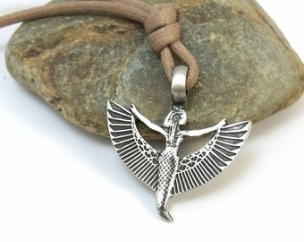 Isis Necklace - Winged Isis Pendant, Ancient Egyptian Jewelry - Ma'at Pendant, Spiritual Jewelry