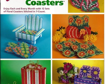 Foral Coasters / Plastic Canvas Pattern / The Needlecraft Shop 846502