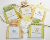 Jungle Safari Theme Soap Favors For Baby Shower With Organza Bags 100% Natural Cold Processed