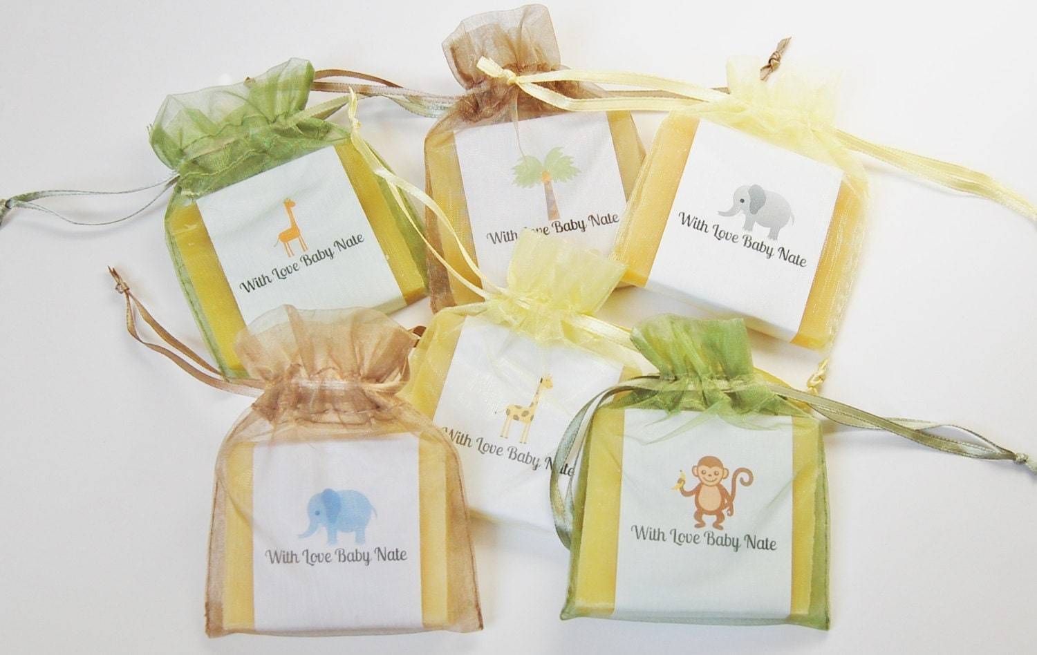 jungle safari theme soap favors baby shower