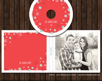 Christmas / Holiday CD/DVD Label and Single Cover Templates - D21