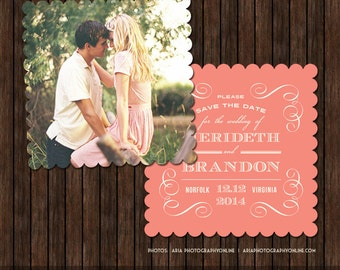 5x5 Save the Date Card Template - S13