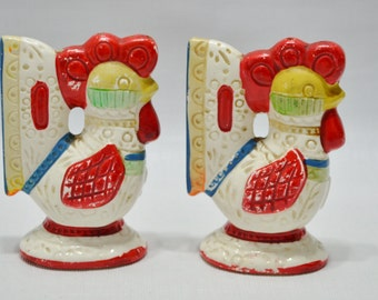 Vintage Chicken Rooster Salt and Pepper Shakers