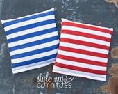 Cornhole Bags - Full Set (8 bags)  // Simply Striped