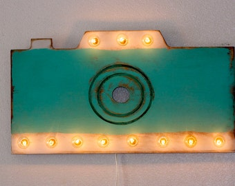 Vintage Style Camera Marquee ..... Art Kids Photographer Teen Wedding Business