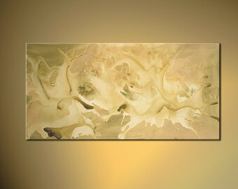 """Original Contemporary Abstract Acrylic Painting on Canvas by Osnat - MADE-TO-ORDER - 48""""x24"""""""