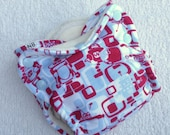 GBW fitted cloth diaper, NB