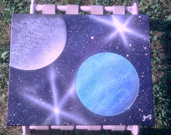 Down to Earth Spray Painted Canvas