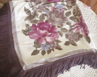 Gorgeous Vintage Table Cloth with Fringe Super Chic n Shabby