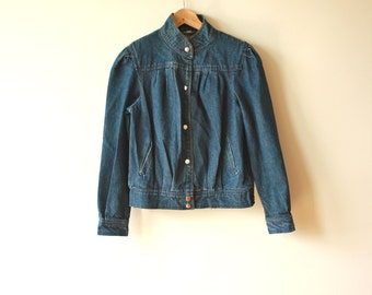 80s Jean Jacket Womens Medium Vintage