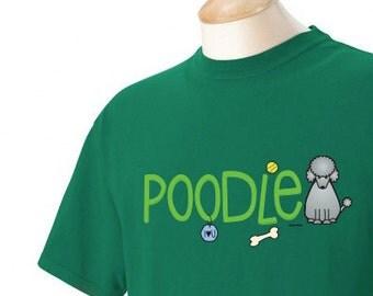 Poodle Doodle Garment Dyed Cotton T-shirt