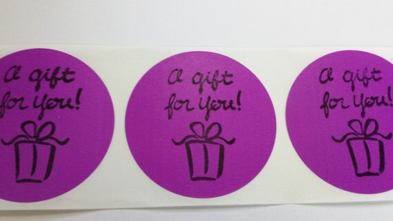 Purple Sticker Label Envelope Bag Seals Retail Promotional Packaging Gift for You Set of 15