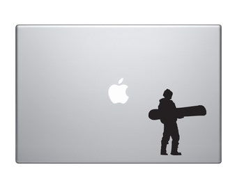 Snowboard Trick #8 - Mountain Downhill Competitive Jump Grind - Macbook Vinyl Sticker Decal Mac Apple Laptop iPad