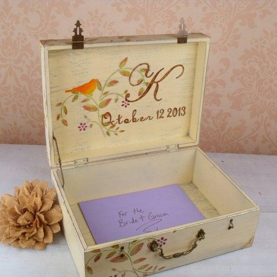 Fall Wedding Gift Card Box : ... Wedding Decoration, Wedding Keepsake Box, Box for Cards, Wedding Gift