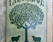Partridge in a Pear Tree sign, Primitive sign, Primitive Decor Wooden Sign, HAFAIR