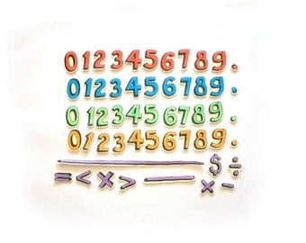 Montessori Math Set - Felt Board Numbers - Counting Set - Flannel Board Math - Moveable Numbers - Homeschool