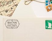Decorative Self Inking Address Stamp - Personalized Return Address Stamper