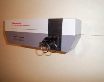NES Console Key Rack Plus 2 Keychains
