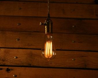 bare bulb lighting. bare bulb minimalist pendant light vintage style cloth cord with dimmer lighting