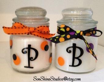Halloween Mini Jar Candle, Personalized