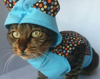 Colorful dotted hoddie by FiercePetFashion