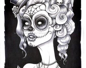 Sugar Skull - Art Print 11x14