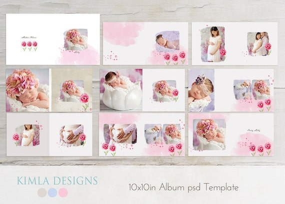 items similar to 10x10in album psd template   baby baby