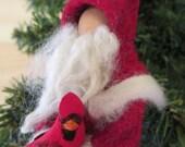 Santa Claus Christmas Ornament, Clothespin - Kriss Kringle