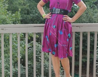 Final Clearance 80s Purple Plum Dress by New Ruby
