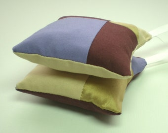 Lavender Cushion Lilac, Gold & Burgundy - set of 2
