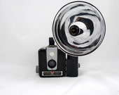 Vintage Kodak Brownie Hawkeye Flash Model Camera in Original Box - Bakelite Body