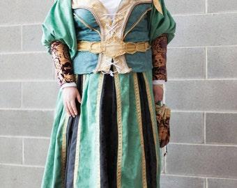 MADE TO ORDER Cosplay Assassin's Creed Sofia Sartor Dress Garb Robe